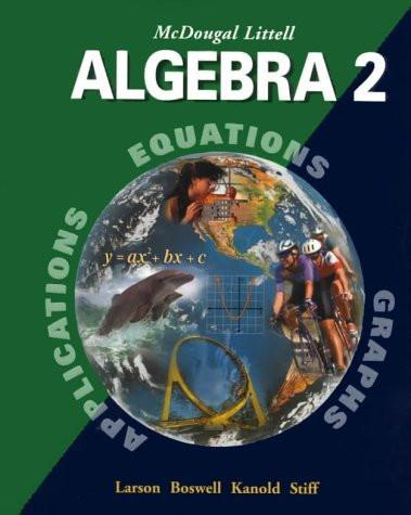 Algebra 2 Applications Equations Graphs