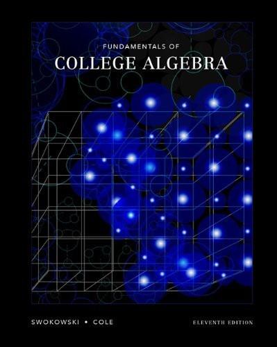 Fundamentals Of College Algebra