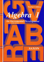 Algebra 1 An Incremental Development