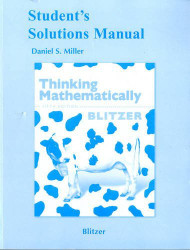 Student Solutions Manual For Thinking Mathematically (Pearson Custom Mathematics)