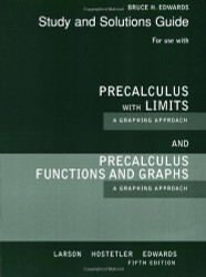 Precalculus With Limits A Graphing Approach Study And Solutions Guide
