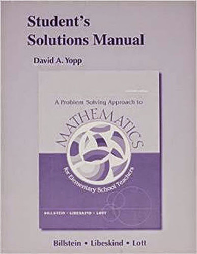 Student's Solutions Manual For A Problem Solving Approach To Mathematics