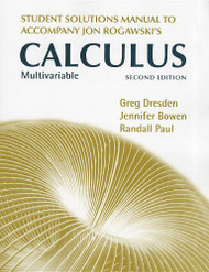 Student's Solutions Manual For Multivariable Calculus Early And Late Transcendentals