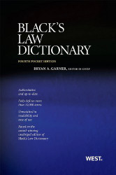 Black's Law Dictionary Pocket