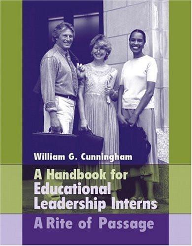 Handbook For Educational Leadership Interns