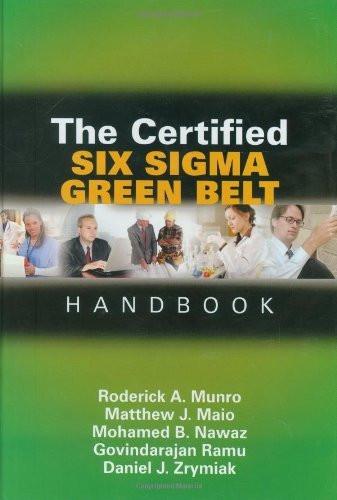 Certified Six Sigma Green Belt Handbook