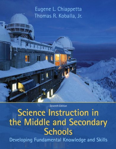 Science Instruction In The Middle And Secondary Schools