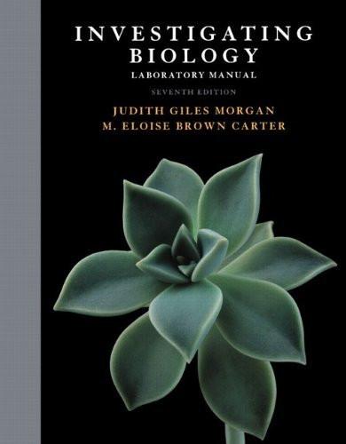 Investigating Biology Lab Manual