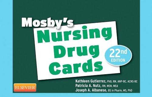 Mosby's Nursing Drug Cards 22E