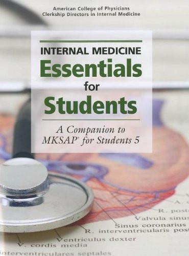 Internal Medicine Essentials For Students