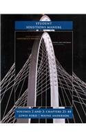 Student Solutions Manual for University Physics Volumes 2 and 3 (chs 21-44)