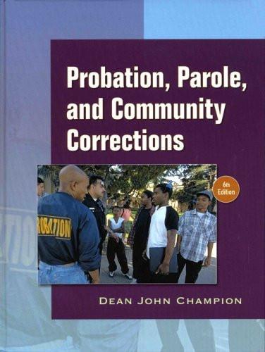 Probation Parole And Community Corrections