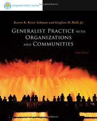 Generalist Practice With Organizations And Communities