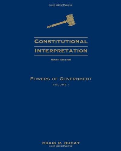Constitutional Interpretation Volume 1