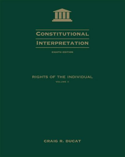 Constitutional Interpretation Volume 2