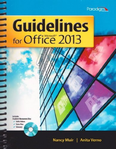 GUIDELINES F/MICROSOFT OFFICE 2013-W/CD