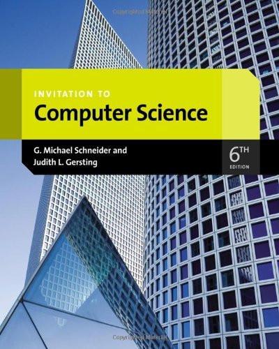 Invitation To Computer Science
