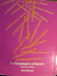 La Grammaire A L'Oeuvre