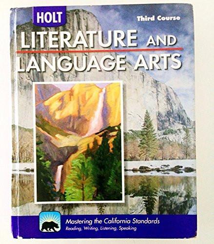 Holt Literature And Language Arts California Grade 9