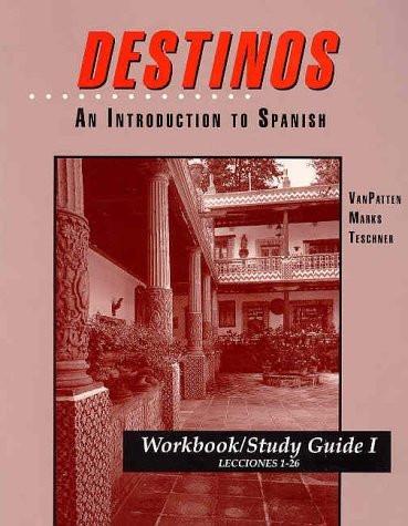 Workbook/Study Guide I