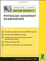 Appleton And Lange Outline Review For The Physician Assistant Examination