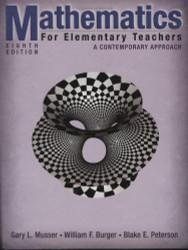 Mathematics For Elementary Teachers