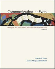 Communicating At Work - Ronald Adler