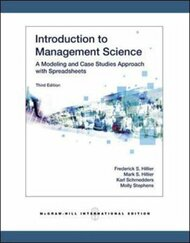 Introduction To Management Science - Frederick Hillier
