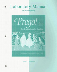 Laboratory Manual To Accompany Prego! An Invitation To Italian