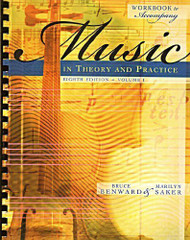 Workbook T/A Music In Theory And Practice Volume 1