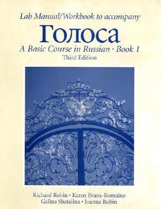 Lab Manual/Workbook To Accompany Golosa