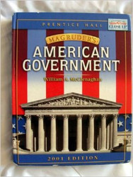 American Government  by William A McClenaghan