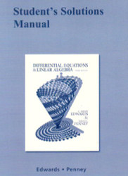 Student Solutions Manual For Differential Equations And Linear Algebra
