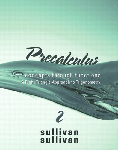 Precalculus Concepts Through Functions Right Triangle