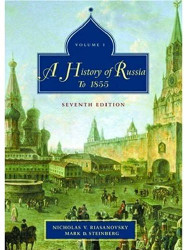A History Of Russia To 1855 Volume 1 by Nicholas Riasanovsky