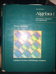 Algebra 1 by Paul Foerster