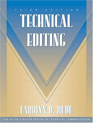 Technical Editing - Carolyn Rude