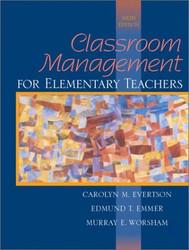 Classroom Management For Elementary Teachers - Carolyn Evertson