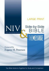 Niv And The Message Side-By-Side Bible Large Print