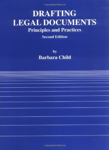 Drafting Legal Documents Principles And Practices