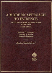 Modern Approach To Evidence by Richard Lempert / Saltzburg and Lempert