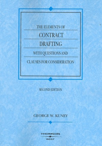Elements Of Contract Drafting