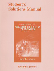 Student Solutions Manual For Miller And Freund's Probability And Statistics For