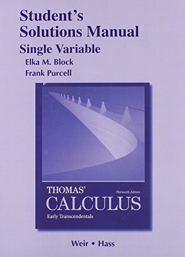 Solutions Manual Single Variable For Calculus Early Transcendentals