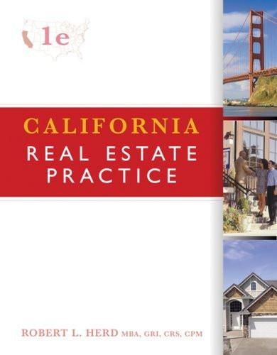 California Real Estate Practice by Robert Herd