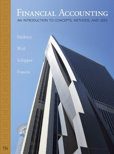 Student Solutions Manual For Stickney/Weil/Schipper/Francis' Financial