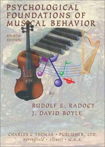 Psychological Foundations Of Musical Behavior