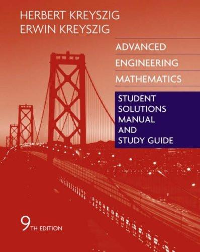 Advanced Engineering Mathematics Student Solutions Manual