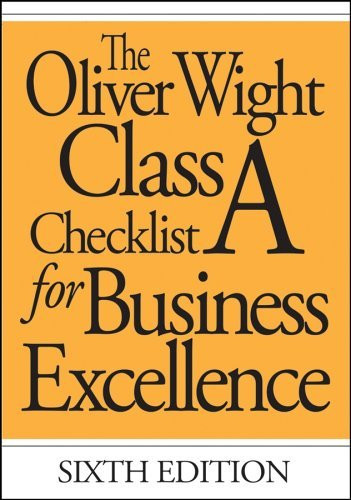 Oliver Wight Class A Checklist For Business Excellence