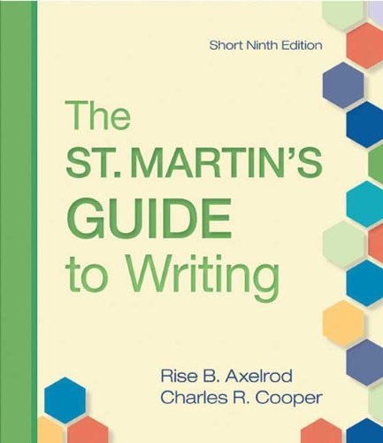St Martin's Guide To Writing Short Edition
